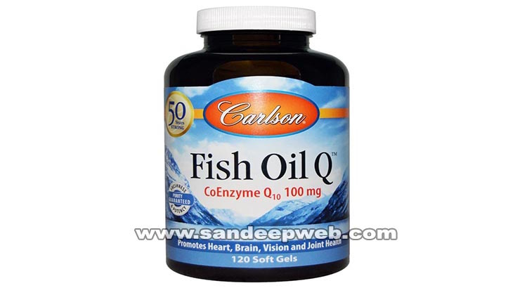 Carlson Fish Oil Q CoEnzyme Q10 100mg Promotes Heart, Brain, Vision and Joint HealthReviews
