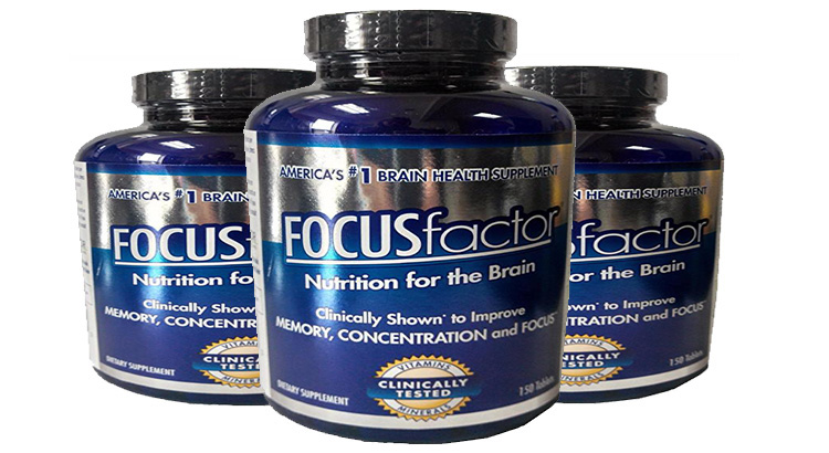 Focus factor Nutrition for the brain clinically shown to improve memory, concentration, and focus