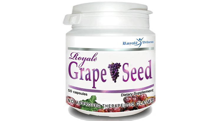 Royale Wellness Grape Seed 50 Capsules Dietary Supplement